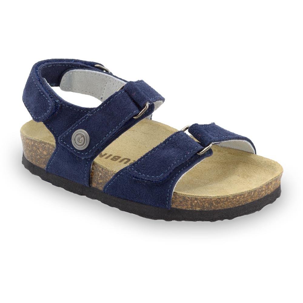 DONATELO Sandalen für Kinder - Veloursleder (23-29) - matt blau, 24