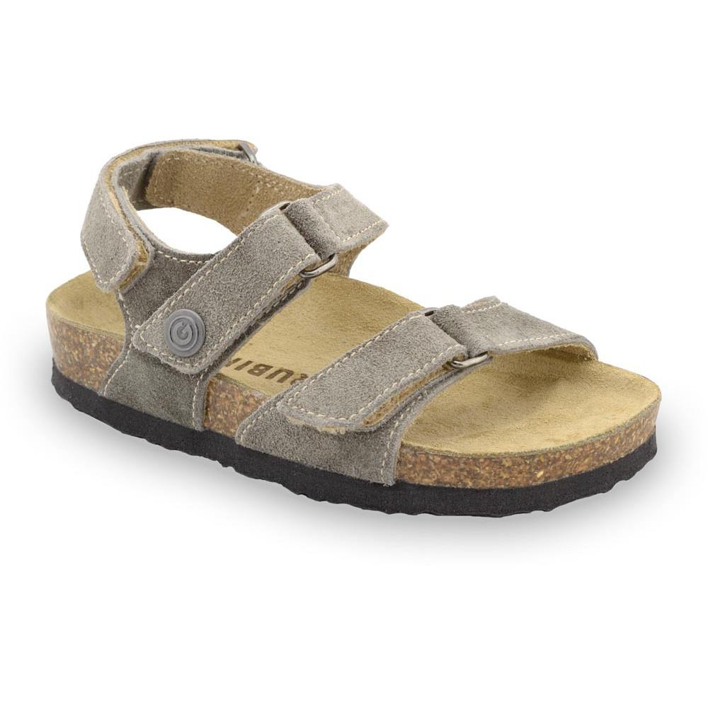 DONATELO Sandalen für Kinder - Veloursleder (23-29) - braun, 24