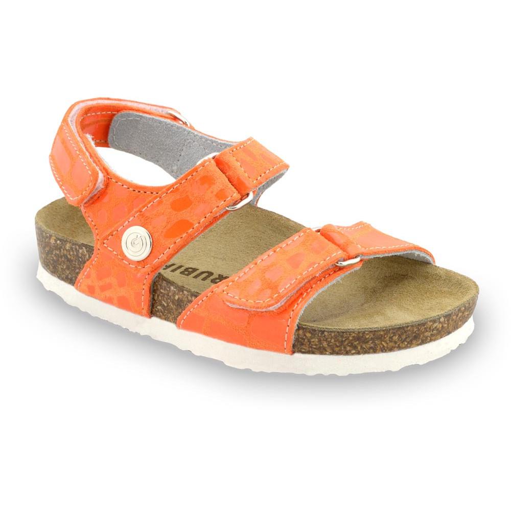 DONATELO Sandalen für Kinder - Leder (23-29) - orange, 23