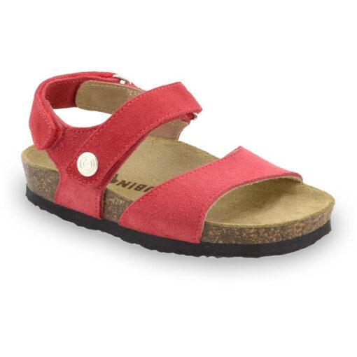 EJPRIL Sandalen für Kinder - Leder Nubuk (30-35)